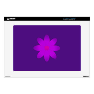 Flor simbólica calcomanías para portátiles
