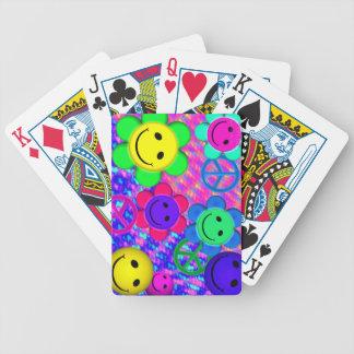Flor Smilies de la paz Baraja Cartas De Poker