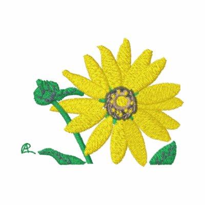 Flor soleada de Sun Polo Bordado