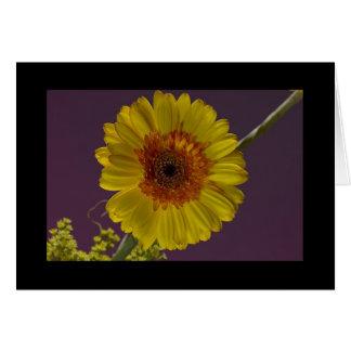 Flor soleada tarjeta de felicitación
