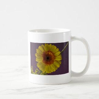 Flor soleada tazas de café
