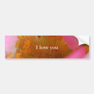 Flor soñadora elegante del rosa color de rosa de p etiqueta de parachoque