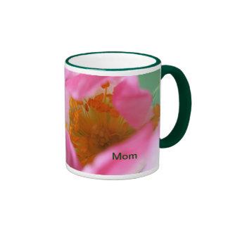 Flor soñadora elegante del rosa color de rosa de p tazas