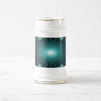 Flor Stein del fractal del trullo Jarra De Cerveza