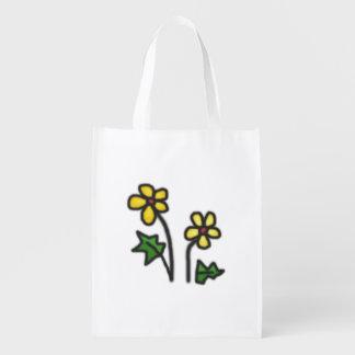 Flor suave bolsa reutilizable