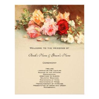 Flor subió antigüedad del programa del boda del flyer personalizado