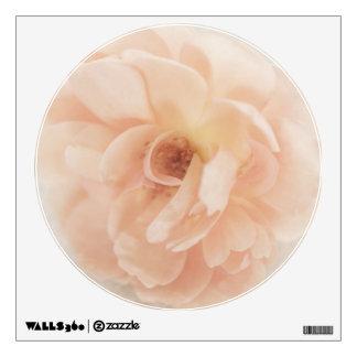 Flor subió jardín personalizada vintage del rosa vinilo