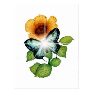 flor tarjeta postal