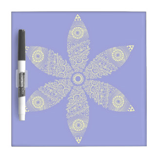 Flor temática tablero blanco