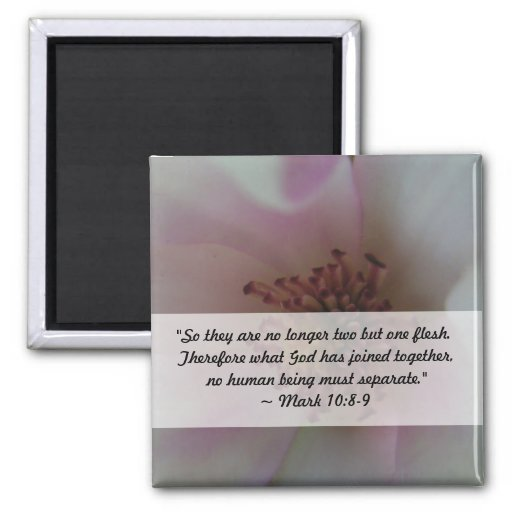 Flor teñida del boda del corazón imán cuadrado
