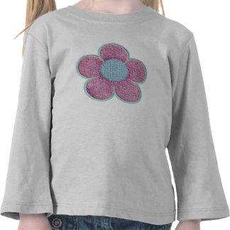 Flor texturizada (rosa) camiseta