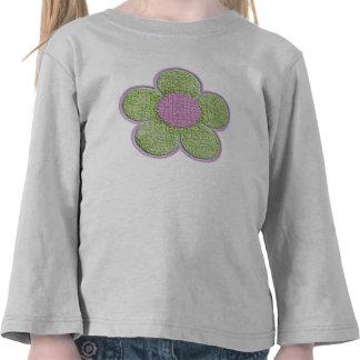 Flor texturizada (rosa) camisetas
