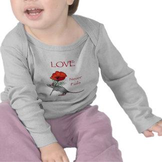 Flor Toting del ratón: El amor nunca falla: Lápiz Camisetas
