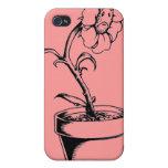 Flor triste iPhone 4 protector