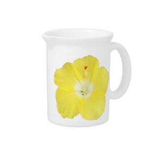 Flor tropical amarilla del hibisco