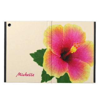 Flor tropical artística del hibisco en de blanco