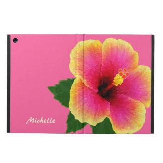 Flor tropical artística del hibisco en rosa