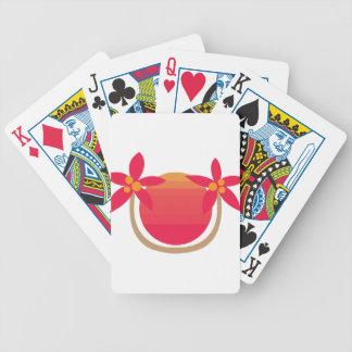 Flor tropical baraja cartas de poker
