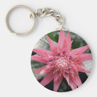 Flor tropical de Bromeliad Llavero Redondo Tipo Pin