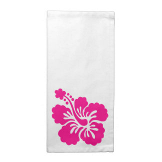 Flor tropical de color rosa oscuro del hibisco servilletas de papel