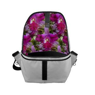 Flor tropical de la orquídea de Cattleya Bolsa De Mensajeria