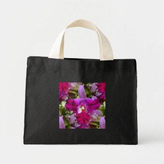Flor tropical de la orquídea de Cattleya Bolsa De Tela Pequeña