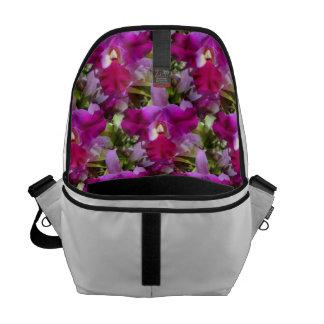 Flor tropical de la orquídea de Cattleya Bolsas Messenger