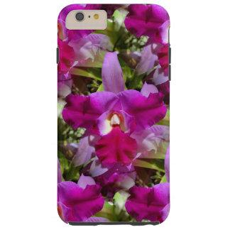 Flor tropical de la orquídea de Cattleya Funda Para iPhone 6 Plus Tough