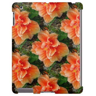 Flor tropical del hibisco del albaricoque funda para iPad
