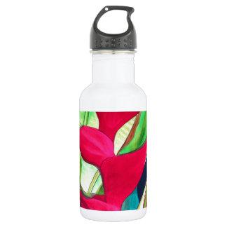 Flor tropical del watercolour de la pinza de