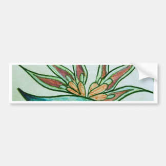 Flor tropical estilizada pegatina para auto
