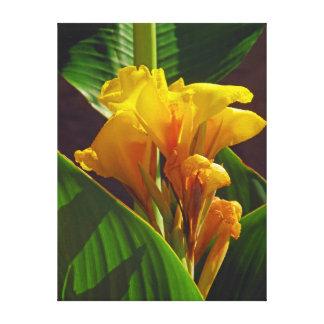 Flor tropical impresion en lona
