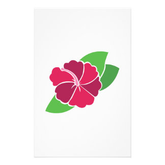 Flor tropical papelería de diseño