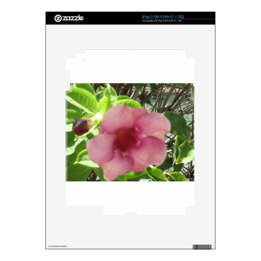 Flor tropical rosada iPad 2 calcomanías