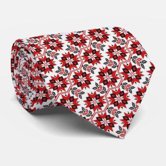 Flor ucraniana del bordado del OPUS Corbatas
