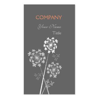 Flor única moderna elegante tarjetas personales