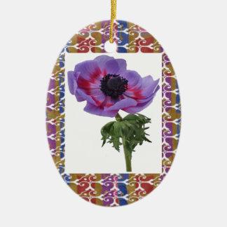 Flor única y regalos elegantes del modelo de la adorno ovalado de cerámica