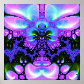 Flor V de Quetzalcoatl 1 impresión del arte Poster
