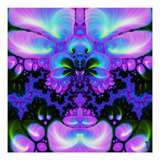 Flor V de Quetzalcoatl 1 impresión del arte Póster