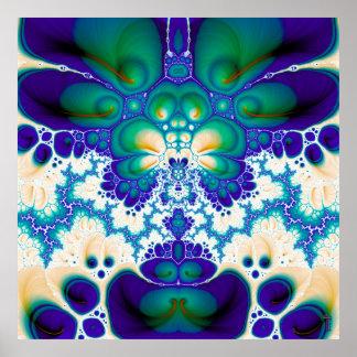 Flor V de Quetzalcoatl impresión de 6 artes Póster