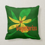 Flor vegetariana almohada