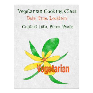 Flor vegetariana tarjeta publicitaria