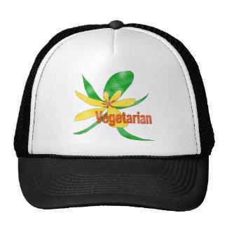 Flor vegetariana gorras