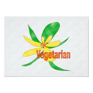 Flor vegetariana invitación 12,7 x 17,8 cm