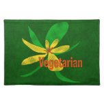 Flor vegetariana manteles individuales