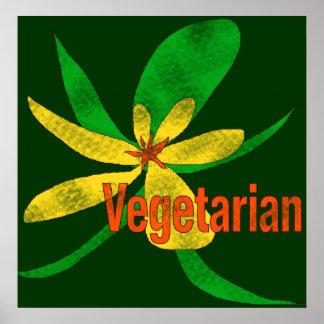 Flor vegetariana póster