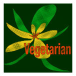 Flor vegetariana posters