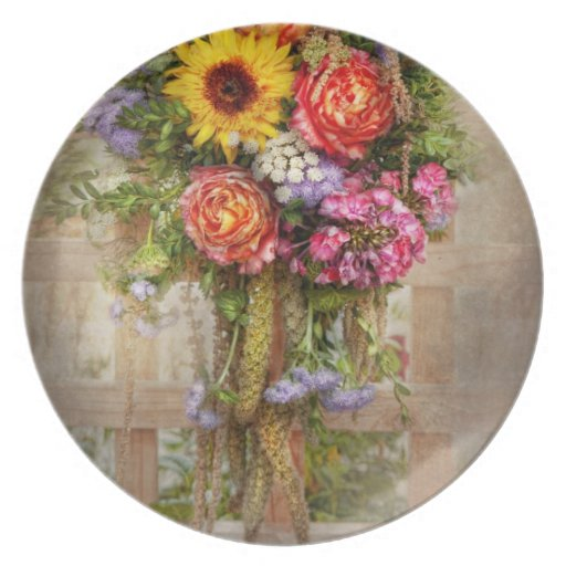 Flor - veranos que bendicen plato de cena