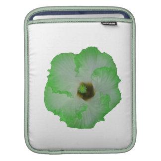 Flor verde del hibisco funda para iPads