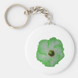Flor verde del hibisco llavero personalizado